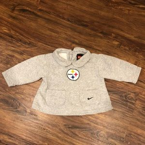 Pittsburgh Steelers baby gray sweatshirt w/collar
